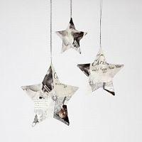 Sterne mit Servietten-Decoupage