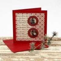 Eine Weihnachtskarte mit Cabochon und Vivi Gade Design-Papier