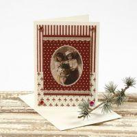 Eine Weihnachtskarte mit Motiv aus der Vivi Gade Design-Serie
