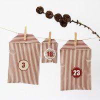 Adventkalender aus Tüten mit Streifen-Design von Vivi Gade