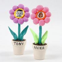 Bilderrahmen aus Silk Clay in Blumen-Form