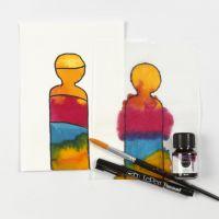 Malen mit flüssiger Wasserfarbe