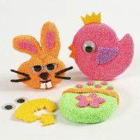 Magnetische Pappmaché-Figuren mit Foam Clay und Wackelaugen