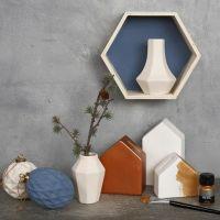 Terrakotta, bemalt mit Chalky Vintage Look Farbe and Art Metal Farbe