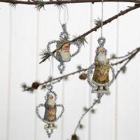 Weihnachtsschmuck im Vintage-Look aus Pfeifenreinigern und Vintage-Motiven