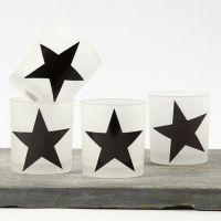 Teelichthalter mit Sternen aus Design Papier