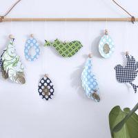 Ausgeschnittene Hänge-Dekorationen von Vivi Gade für den Frühling und Ostern