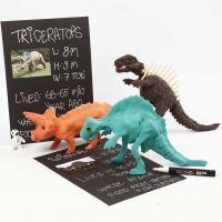Dinosaurier-Skelett, ummantelt mit Silk Clay