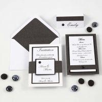 Einladung, Menü- und Tischkarte in Schwarz und Weiß