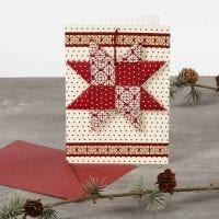 Weihnachtskarte mit Flechtstern
