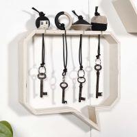 Hölzerne Schlüsselanhänger mit Schlüsselkasten