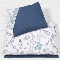 Schlafdecke und Kopfkissen für ein Baby