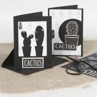 Grußkarten - dekoriert mit Design-Papier und Ausschneide-Motiven
