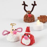 Weihnachtsfiguren mit leuchtendem Innenleben