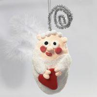 Styropor-Engel, gestaltet mit Foam Clay und Silk Clay