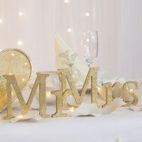 Dekoration für den Hochzeitstisch