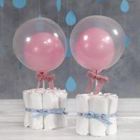 Tischdeko aus Windeln für die Baby Shower Party