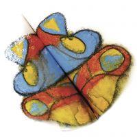 Symmetrie mit Wasserfarben