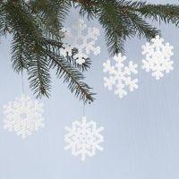 Schneeflocken-Anhänger aus Nabbi Bügelperlen