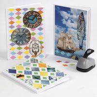 Bücher mit Papier-Collagen als Cover-Deko