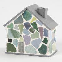 Mosaik, gestaltet und befestigt mit Fugenfüllmasse