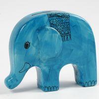 Spardose aus Terracotta, mit Porzellanfarbe und -markern verziert