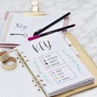 Übersichtsseite für Bullet Journal oder Kalender