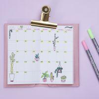 Dekorativ gestalteter Wochenplan für Kalender oder Bullet Journal