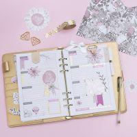 Verzierter 5-Wochenplan für Bullet Journal oder Kalender