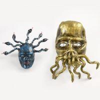 Medusa und Tentakel-Monster aus Pappmaché, Pfeifenreinigern und Silk Clay