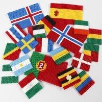 Flaggen der Welt aus Nabbi Bügelperlen