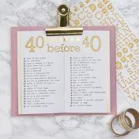 'Bucket List' für Bullet Journal oder Kalender