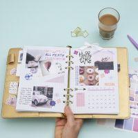 Monatsübersicht für einen Kalender oder das Bullet Journal