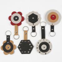 Schlüsselanhänger aus Kunstlederpapier