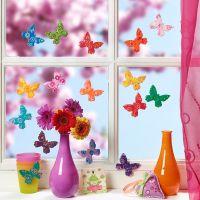 Farbenfrohe Schmetterlinge aus Fimo-Knete