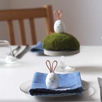 Kaninchen aus Fimo Air als Deko-Objekt oder Tischkarten-Verzierung