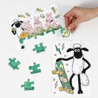 Shaun das Schaf Puzzle zm Ausmalen mit Filzstiften