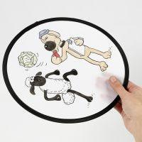 Shaun das Schaf Frisbee-Scheibe zum Bemalen mit Textilmarkern