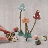 Waldboden aus Silk Clay, bestückt mit Naturmaterial