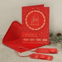 Individuelle Weihnachtskarten mit Weihnachtsmann aus Dekofolie