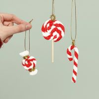 Christmas candy hanging decorations made from Foam Clay