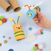 Insekten, schnell und einfach gebastelt aus Papprollen