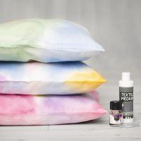 Kissenbezüge, bemalt mit Aqua-Effektfarbe