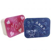 Plastikbox als Schatzkästchen mit personalisiertem Deckel