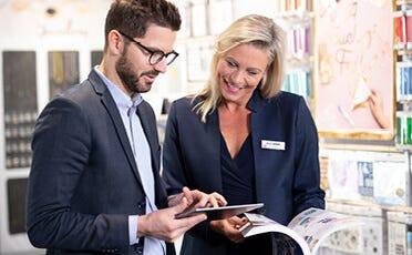 Create as a business customer